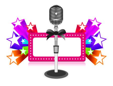oratory: Star performance illustration on white background Illustration