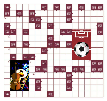 An empty scanword puzzle  Stock Vector - 7160750