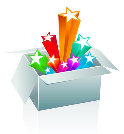 Gift box surprise - entertainment Stock Vector - 7160741