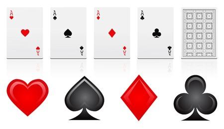 as de picas: tarjetas de juegos  Vectores