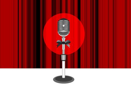 Curtains with microphone  Vector