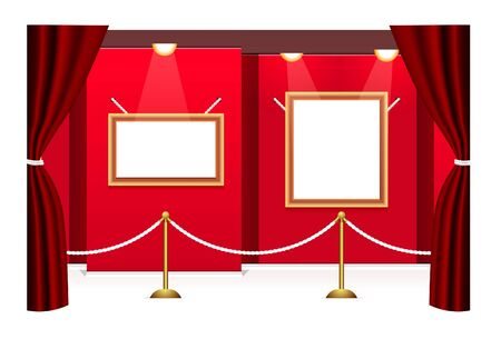 Picture gallery with frameworks  Vector