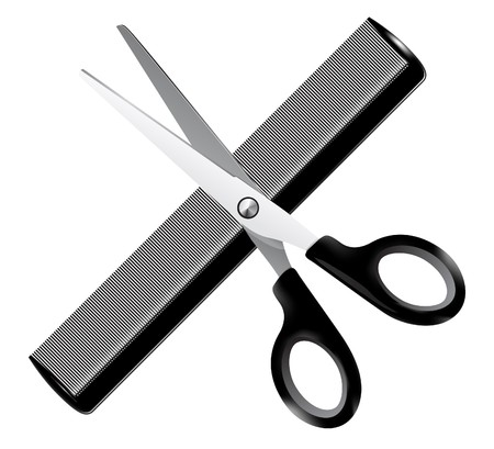 coiffeur: Barber tools - illustration