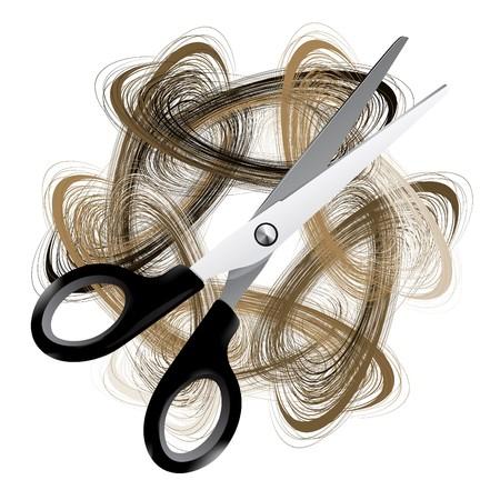 peigne et ciseaux: Ciseaux et cheveux