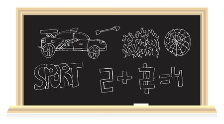 The blackboard in the classroom  Stock Vector - 7234936