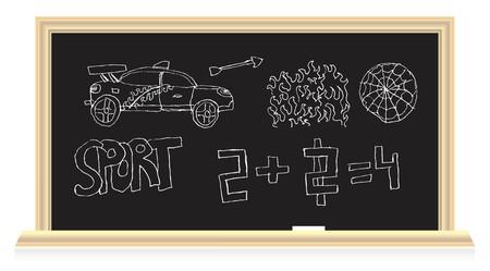 The blackboard in the classroom Stock Vector - 7234936
