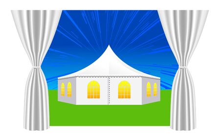 large white tent for events  Vector