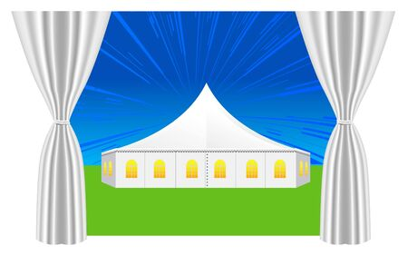 private party: large white tent for events