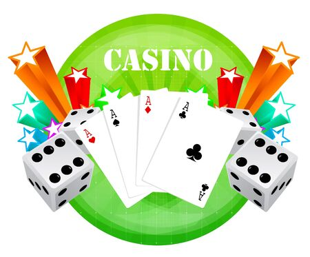 lasvegas: gambling illustration with casino elements  Stock Photo