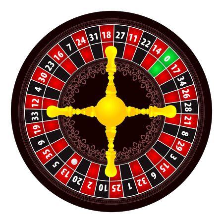 Roulette illustration on white background Stock Vector - 7280892