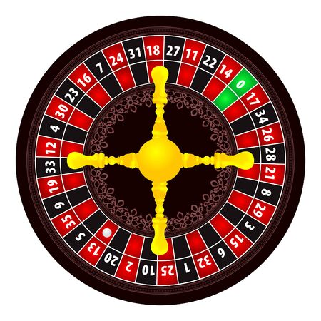 luck wheel: Roulette illustration on white background Illustration