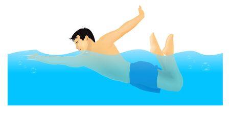 Swimmer Stock Vector - 7280887
