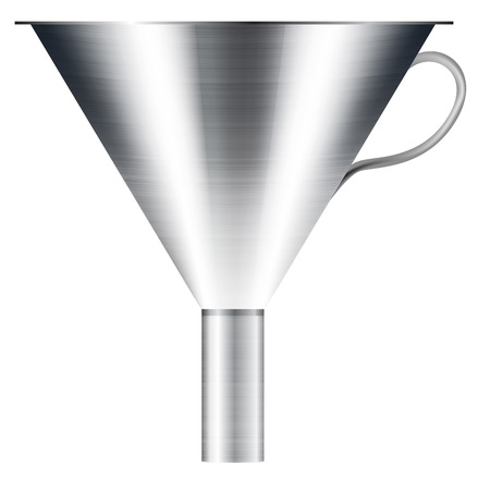 funnel made of stainless steel  Vector