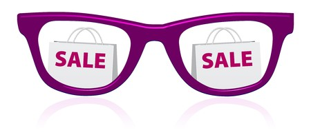sunglasses reflection: vector sale sunglasses icon