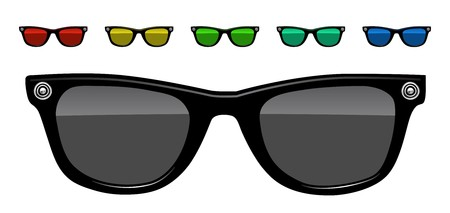 reading glass: sunglasses vector illustration