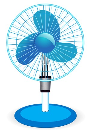 electric fan: table fan Illustration
