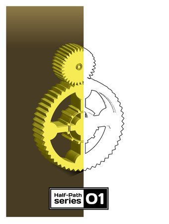 Gear. Half empty series Vector