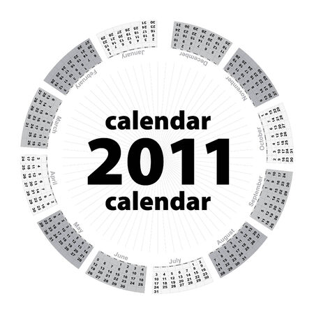 Simple creative calendar of 2011 Stock Vector - 7648062