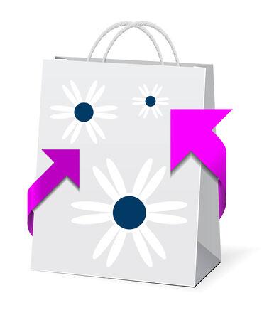 Paper shopping bag  Stock Vector - 7659005