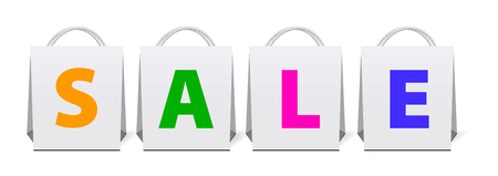 Sale shopping bags Stock Vector - 7659006