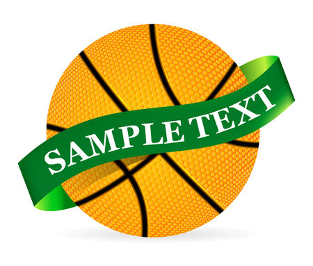 Basket Ball with ribbon on white background Vector