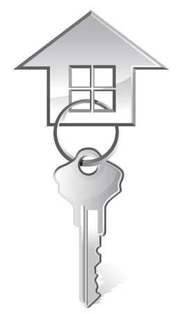 dwell: illustration of house key  Illustration