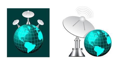 satellite navigation: Sat�lite de la tierra  Vectores