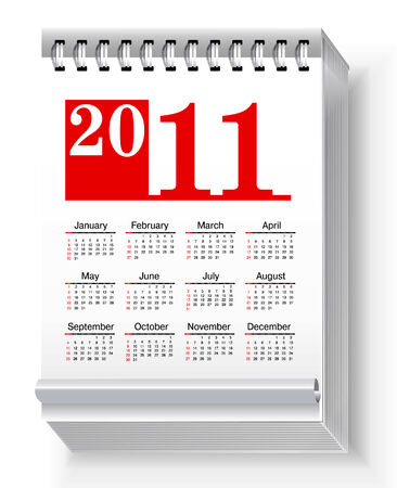 Calender Icon isolated on white background Illustration