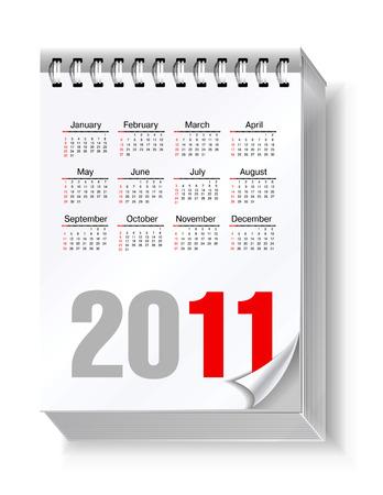 acolchado: Calendario de 2011  Vectores