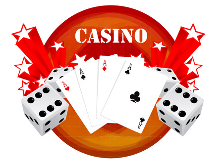 dices: gambling illustration with casino elements  Illustration