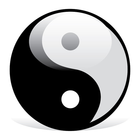 chinese buddha: Yin and Yang symbol