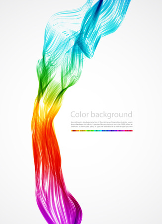 abstract colorful smoke,   background  Stock Vector - 7751567