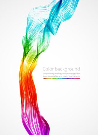 color�: R�sum� arri�re-plan color� de fum�e,  Illustration