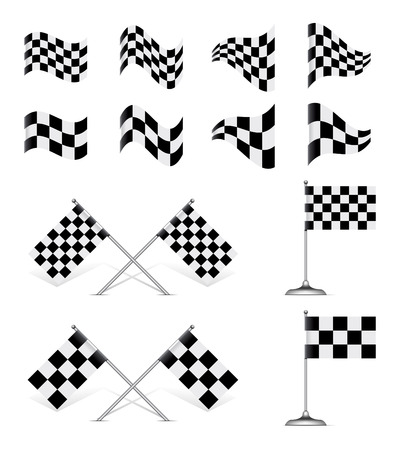 checkered flag: Racing flag