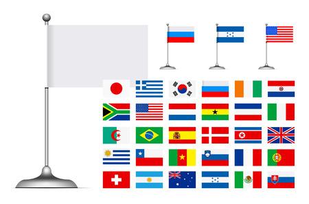 flag of argentina: Pabell�n conjunto sobre fondo blanco. F�ciles de reemplazo