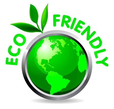 echo: Eco glossy icon on white background