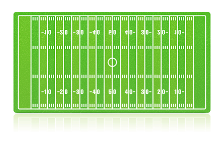 football pitch: American football field with grass (noise) texture