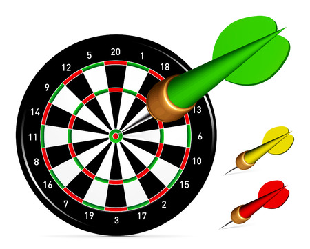 dartboard: Dartboard with Darts