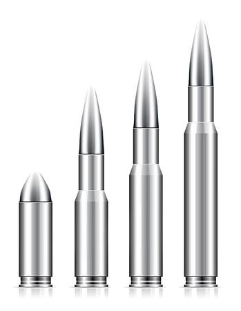 Set of bullets on white background Vector