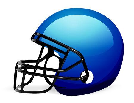 Vector voet bal helm op wit  Vector Illustratie