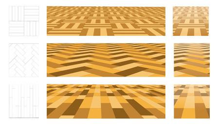 laminated: Parquet in perspective plane