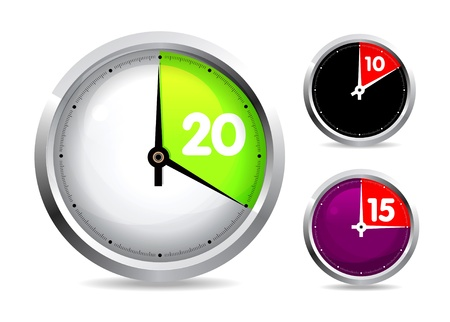 Set of timers Stock Vector - 8285755