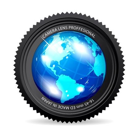 slr camera: Zoom the World Illustration