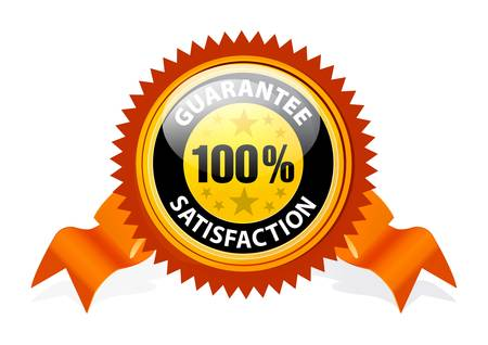 100% Satisfaction Guaranteed Sign Stock Vector - 8285756