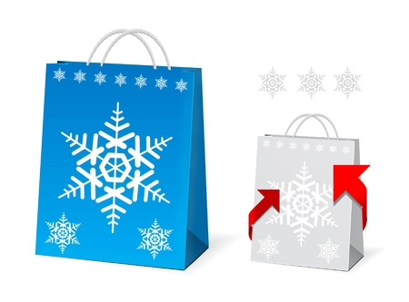 Christmas Paper Bag Design Stock Vector - 8285764