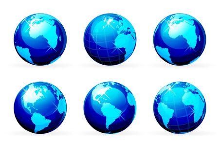 earth icon Stock Vector - 8285763