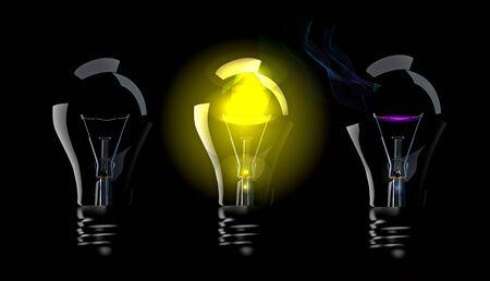 Phase blown bulbs Stock Vector - 8285769