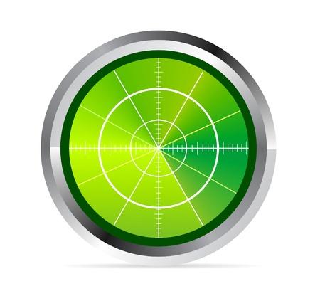 oscilloscope: Illustrazione del monitor radar o oscilloscopio