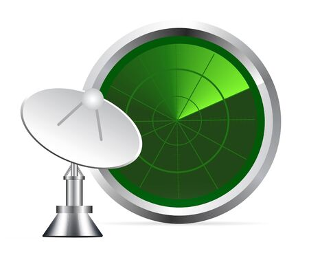 misil: pantalla de radar  Vectores
