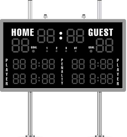 baseball stadium: Home and Guest Scoreboard